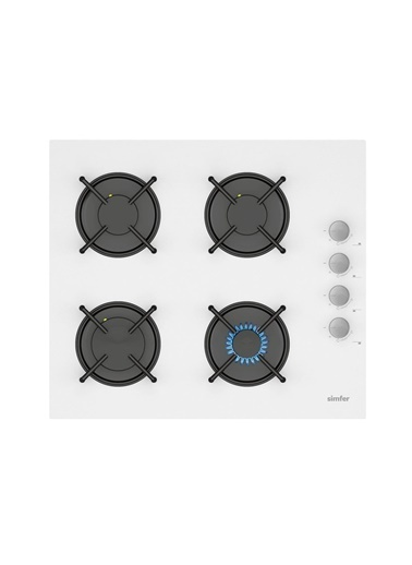 Simfer Kardelen Beyaz Dijital Ankastre Cam Set (3507 - 8668 - 7340) Renkli